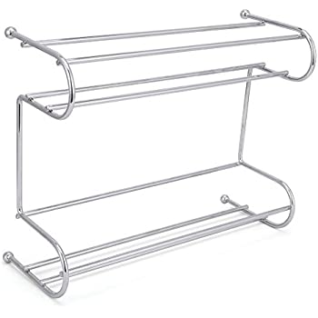 Amazon Com 2 Tier Spice Rack Ezoware Silver Kitchen