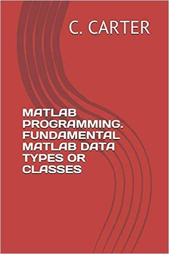MATLAB PROGRAMMING  FUNDAMENTAL MATLAB DATA TYPES OR CLASSES