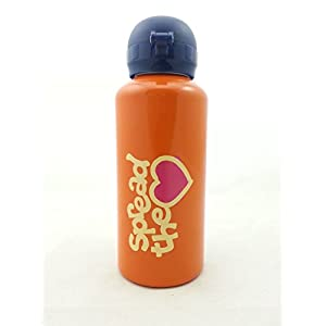 Spread The Love Aluminum Water Bottle - - DARK ORANGE