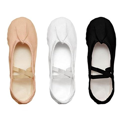 Danz Plus Black White Pink Color Canvas Split Sole Ballet Ballet Sole Slippers Dance Shoes Parent B07CK2PXBL 0d71ec