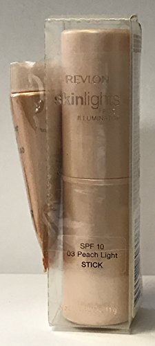 Revlon Skinlights Face Illuminator 03 Peach Light Stick 0.40 oz/11g (Revlon Photoready Skinlights Face Illuminator Peach Light)