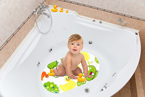 non slip baby bath mat for kids frog and duck great for shower stall bathtub floor anti. Black Bedroom Furniture Sets. Home Design Ideas