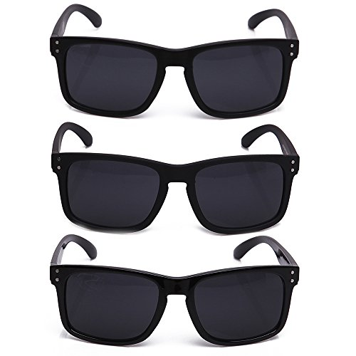 Newbee Fashion Men's Simple Squared Keyhole Revo Sunglasses -BUY 4 GET 20% - Buy Men For Sunglasses