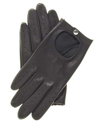 Pratt and Hart Women's Deerskin Leather Driving Gloves Size S Color Black