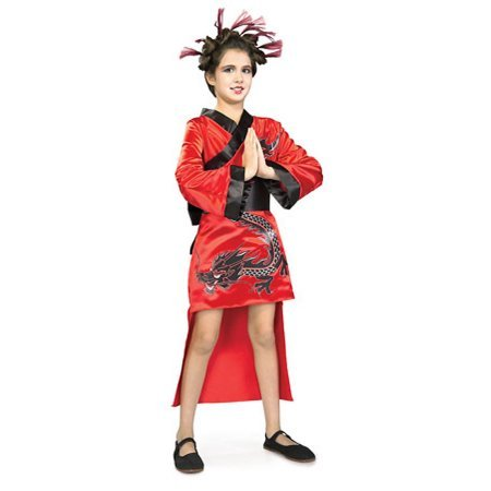 Red Dragon Lady Costume Rubies 882487 Large (Dragon Lady Red Costume)
