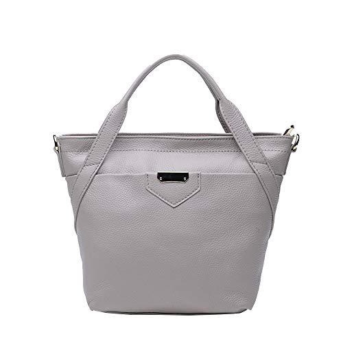 Main Casual Femmes Top Sacs handle Décontractés À Mode En Pour Cuir Bandoulière Grey Large 5gwBqX8w