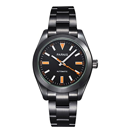 Whatswatch 40mm Parnis Black Dial Milgauss Style Automatic Mens Watch PA-0046 ()