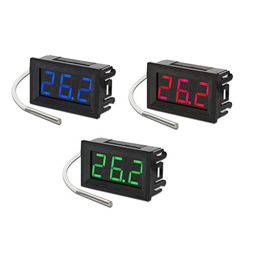 Nero con display rosso Mini termometro digitale portatile Display a LED Termometro digitale industriale 30~800 ℃ K-Type Calibro industriale XH-B310