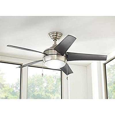 "Home Decorators 44"" Windward Brushed Nickel Ceiling Fan"
