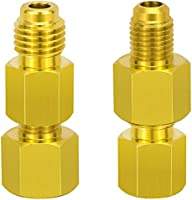 6014 Vacuum Pump Adapter 1//4 Flare Female to 1//2 Acme Male,4PCS Dreamtop R134a Brass Adapter to R12 Fitting Adapter 1//2 Female Acme to 1//4 Male Flare