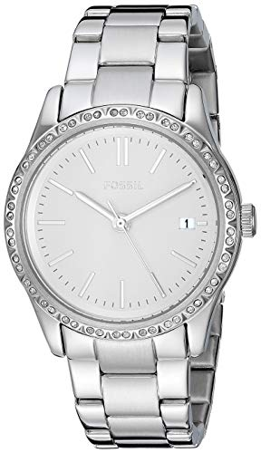 Fossil Women's Adalyn Quartz Stainless Steel Dress Watch, Color: Silver (Model: BQ3373) from Fossil