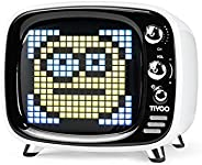 Divoom Tivoo Portable Retro Bluetooth Speaker - Pixel Art DIY Box, RGB Programmable 16X16 LED, Support Android