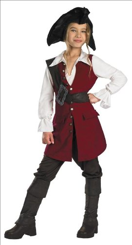 [Disguise Disney Pirates Of The Caribbean Elizabeth Pirate Deluxe Girls Costume, X-Large/14-16] (Halloween Pirate Woman Costumes)