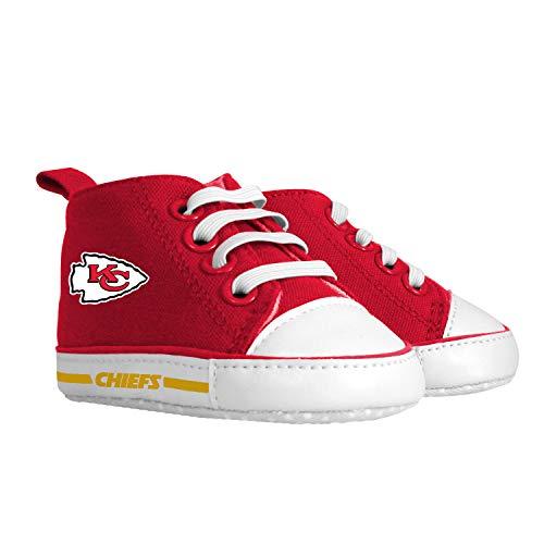 Pre-Walker Hightop (1 Size fits Most) (Hanger)   Unisex Baby Boys Girls High Top Sneaker Soft Anti-Slip Sole Newborn Infant First Walkers Canvas Child Shoes   Kansas City Chiefs