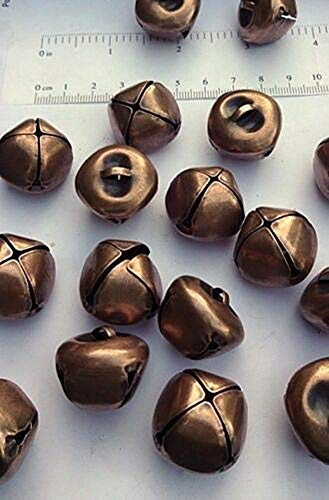 Spk Jewelry 12 Antique Copper Jingle Bells 25mm / 1
