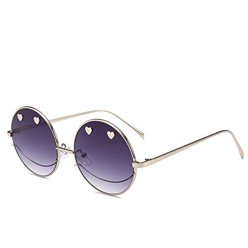 Sol Moneda xuexue Creativo Prueba Ojos Visera para Espejo Gafas UV Protección Forma A Protección Metal Personalidad Moda 03 Corazón Viento Creativo De De Sonriente Hombre Plano De Sra Cara 04 Los 55p8rq6