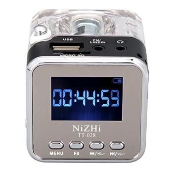 Nizhi Tt-028 Mp3 Mini Digital Portable Music Player Micro Sd Usb Fm Radio (Black) 2