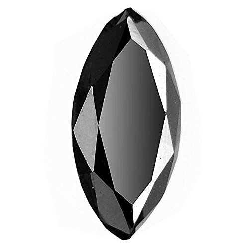 Skyjewels Black Diamond 2.60 Cts Marquise Cut Solitaire Earth Mined Certified by skyjewels