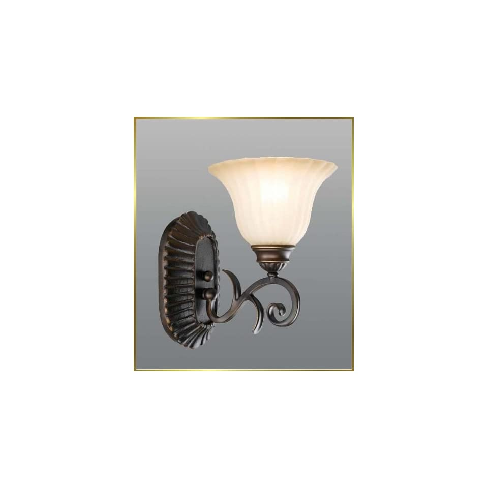 Wrought Iron Wall Sconce, JB 7371, 1 light, Oiled Bronze, 7 wide X 11 high