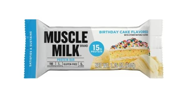 Amazon Muscle Milk Protein Bar Birthday Cake 5 Little Bars Pack Of 2 Health Personal Care