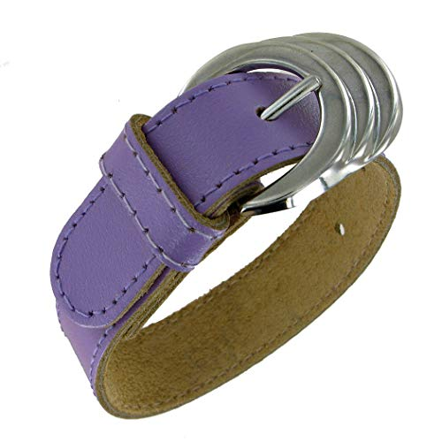 Adjustable Length Fashion Funk Rocker Chic Pastel Purple Pleather Belt Buckle Adjustable Bracelet for Women