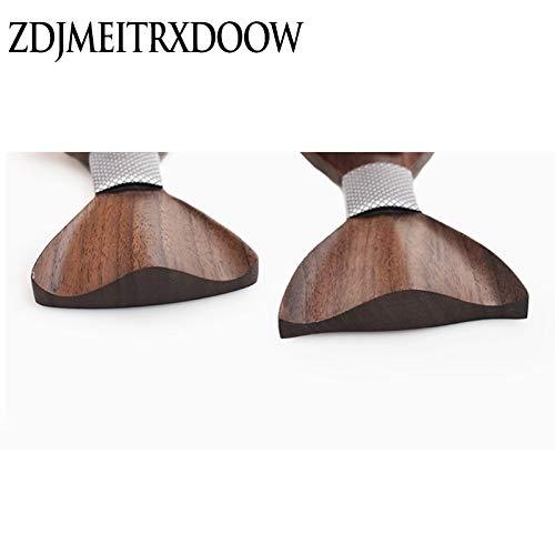 Color: 162104 Graven New 2018 3D Wooden tie Pocekt Square Cufflinks Fashion Wood Bow tie Wedding dinne Handmade corbata Wooden Ties Gravata Set