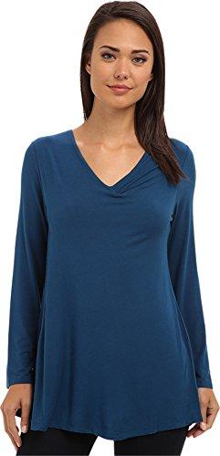 Lysse Women's Damaris Long-Sleeve Top w/ BackBeautiful? Teal T-Shirt XL