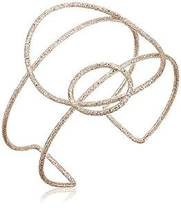 BCBG Generation Women's Gold Geometric Cuff Bracelet, One Size