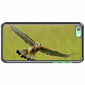 iPhone 5C Black Hardshell Case kestrel flight wings flap Desin Images Protector Back Cover