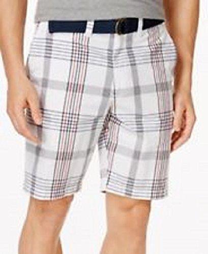 American Rag Mens Plaid Slim Fit Casual Shorts White 31 from AMERICAN RAG CIE