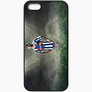 Personalized iPhone 5 5S Cell phone Case/Cover Skin 2013 soccer lionel messi Black