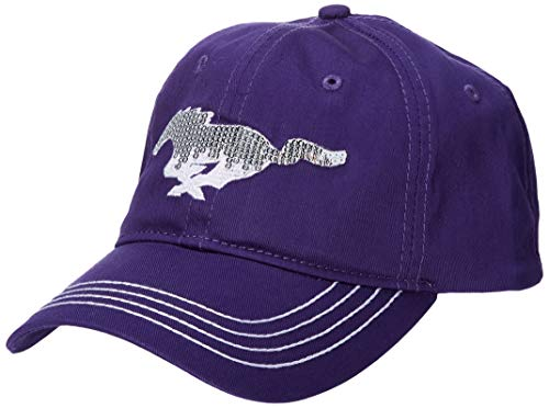Ford Genuine Mustang Women's Ladies Sequin Pony Purple Baseball Cap Hat