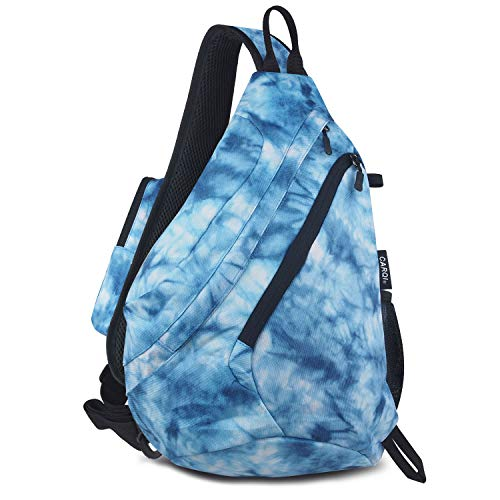 (CARQI Sling Bag Shoulder Backpack Crossbody Chest Purse Travel Hiking Camping Daypack)