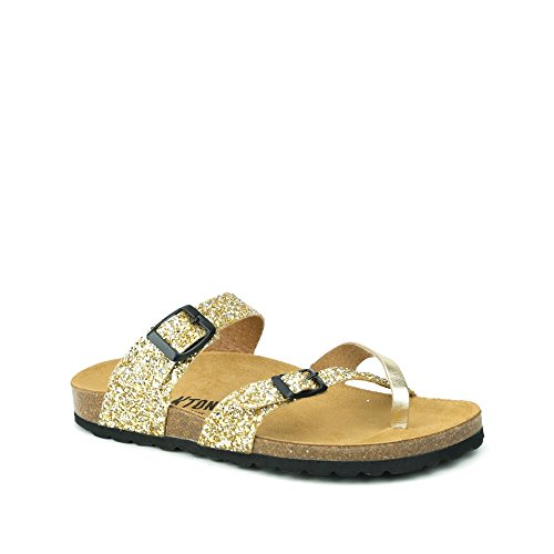 PLAKTON Women's Clogs & Mules Yellow 8hY8c