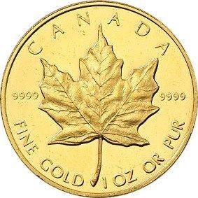 Royal Mint Gold Coins - Royal Canadian Mint Canada (1 Oz) Gold Maple Leaf - Random Year