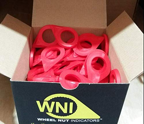 30mm Red Wheel Nut Indicators pack of 100