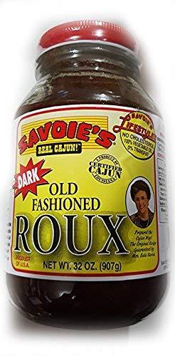 SAVOIE'S Old Fashioned Dark Roux 32oz (Best Roux In A Jar)