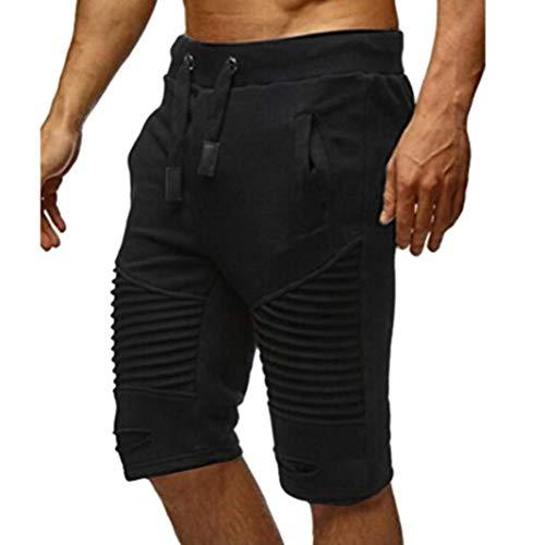 ♚Pantalones Cortos Hombres Pantalones de chándal, Pantalones de Cintura elástica Pantalones Cortos Holgados de Sportwear de la Cintura elástica Absolute: ...