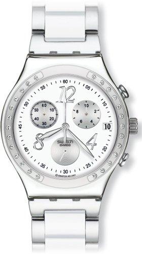 Chrono Swatch Watch (Swatch YCS511GC Irony Chrono Dreamwhite Watch)