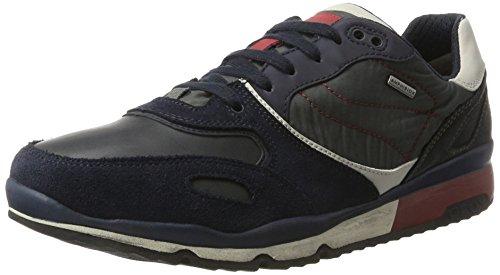 Geox Herren U Sandford B ABX A Sneaker, Blau (Navy/Dk Red), 46 EU