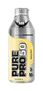 American Body Building Pure Pro 50, Vanilla Bean, 14.5-Ounce Bottles (Pack of 12)