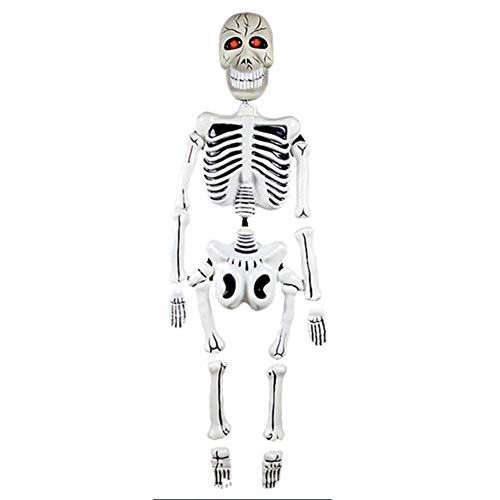 Hakazhi Inc Party DIY Decorations - 1 Piece Halloween Party Decorations Haunted House Props Horror Spiders Skeleton Ghosts Terrible Voice Control Bar Decor Ghosts (Music Ghosts)]()
