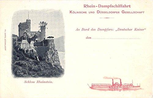 (Rheinstein Castle Schloss Germany Antique Postcard J6356 )