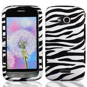 (LF Zebra Designer Hard Case Protector Cover, Stylus Pen & Screen Wiper Bundle Accessory for Samsung Galaxy Victory 4G Lte)