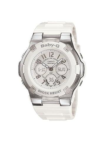 Casio Women's BGA110-7B Baby-G Shock-Resistant White Sport Watch (Sport Watches Womens White)