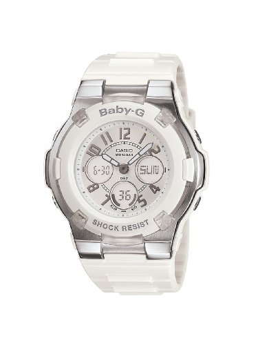 Casio Women's BGA110-7B Baby-G Shock-Resistant White Sport Watch ()