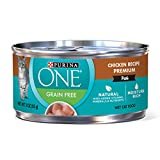 Purina One Grain Free Classic Chicken Recipe Premium Pate Wet Cat Food – (24) 3 oz. Cans For Sale