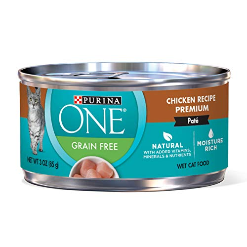 Purina One Grain Free Classic Chicken Recipe Premium Pate Wet Cat Food - (24) 3 oz. Cans
