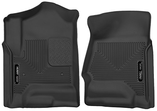 Husky Liners Front Floor Liners Fits 14-18 Silverado/Sierra 1500 Crew/Double Cab