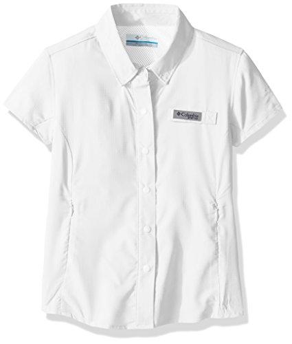 Columbia Girls Tamiami Short Sleeve Shirt, Large, White